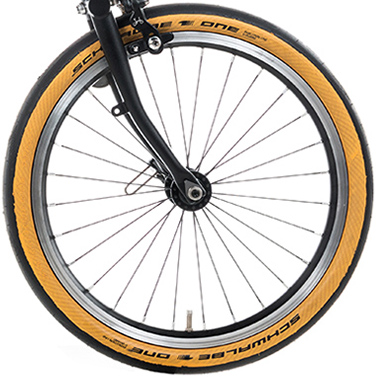 Brompton Schwalbe One Tan Wall Tyre 35-349